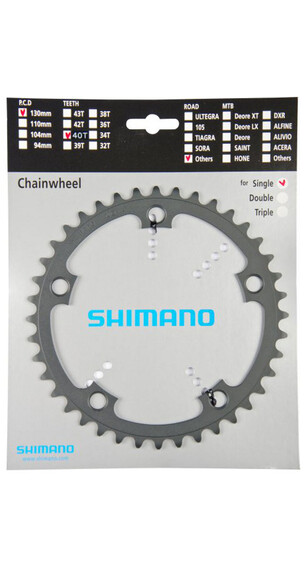 Shimano Tandem FC-R601 Kettenblatt 1-fach links grau